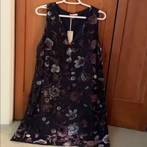 Mystery Sz M lovely navy shift dress